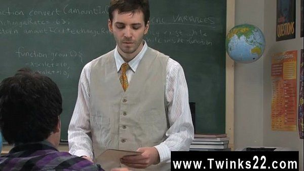 Amazing gay scene Sometimes this horny teacher takes advantage of his