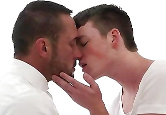 MormonBoyz-Muscle daddy priest leader barebacks Mormon ginger boy in ritual