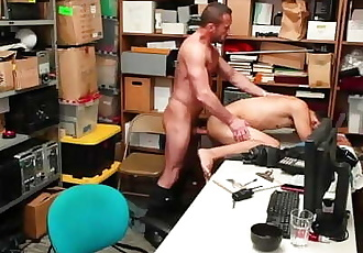 YoungPerps - Muscle guard takes a shoplifter's virginity
