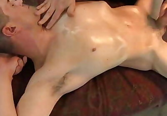 Blake, not ready for anal, loved my hand on his cock