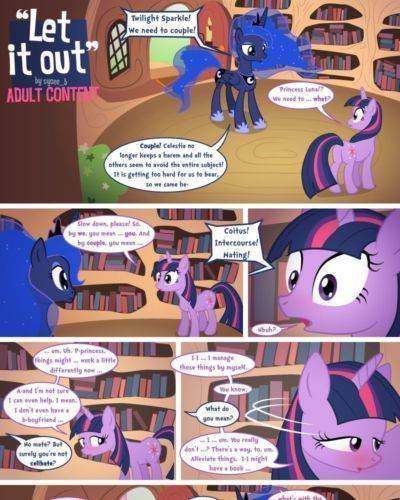 syoee_b Let It Out (My Little Pony: Friendship Is Magic)