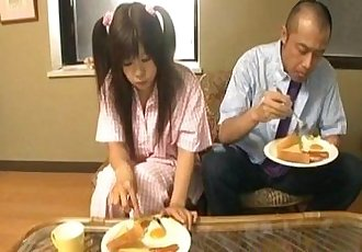 Shino Nakamura gets cum on fucked shaved crack from sucked cock - 10 min