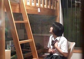 Japanese teen masturbates - 10 min