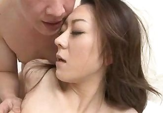 Ruri Hayami sexy threesome along two males - 12 min
