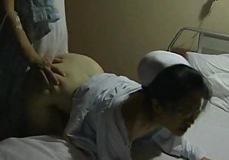 Japanese nurse fucked from behind - 2 min