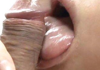 Japanese Honey Yukina Momose Licking and Eating Hairy Balls - 5 min