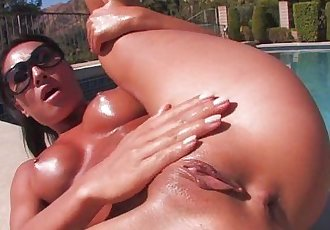 Asa Akiras Poolside Striptease - 7 min HD