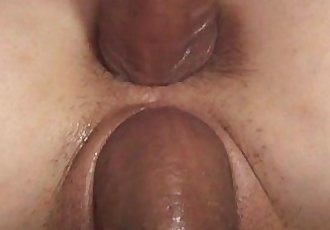 Threesomed Asian tramp gets hardcore double penetrated - 5 min