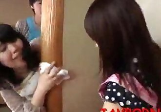 Sneaky son makes love to her mother in front of her sister - 3 min