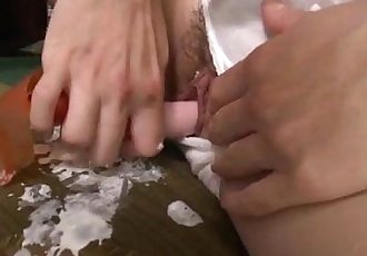 Hot mom  Aoba Itou kneels to suck on a younger cock - 12 min