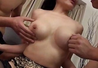 Arousing scenes of gangbang sex with busty Miu Watanabe - 12 min