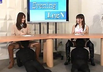 MLDO-088 Delusional leg & boots news station. Mistress Land - 3 min