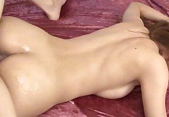 Asian milf fucked in oriental threeway on her bedroom - 6 min