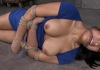 Thick Asian In Rope Bondage - 6 min HD