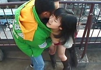 Hot Asian outdoor blowjob here - 5 min
