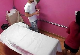 Masseuse Makes Client Cum But She Cums Too - 5 min