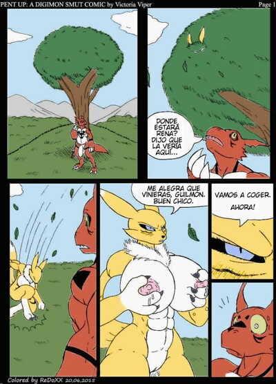 Reprimido: Un Comic De Obscenidades Digimon