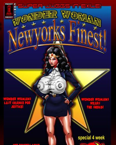Smudge Super Juggs in Exile!: Wonder Woman - Newyorks Finest! (Wonder Woman)