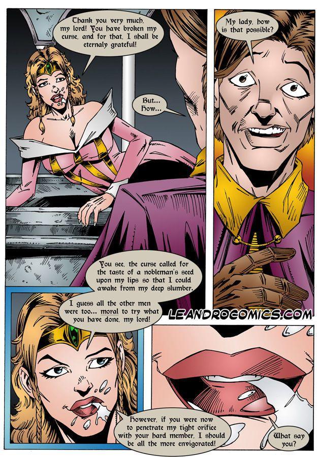 Порно комикс спящая красавица