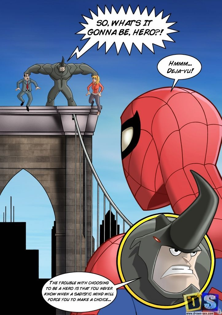 Drawn-Sex Spider-Man