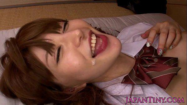 Petite Yuria Satomi loves tasting jizz HD