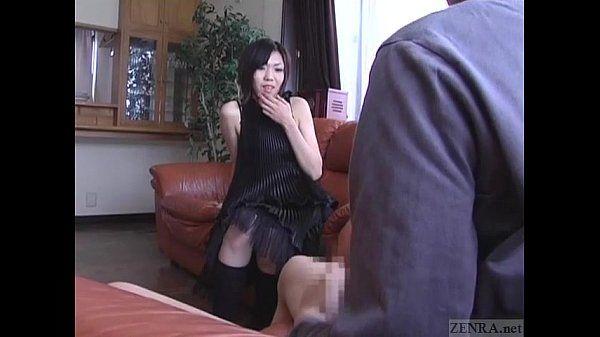 Subtitled CFNM Japanese senzuri femdom leads to cumshot