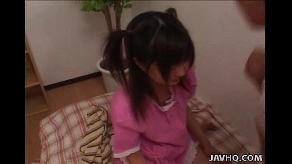 Precious Asian brunette has a fat dick she is sucking on