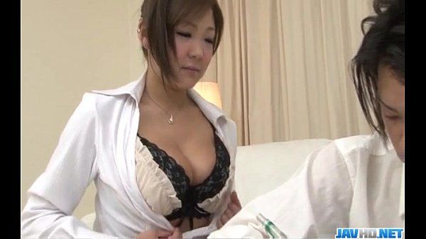 Naughty Hiyoko Morinaga uses her tits to stroke the cock