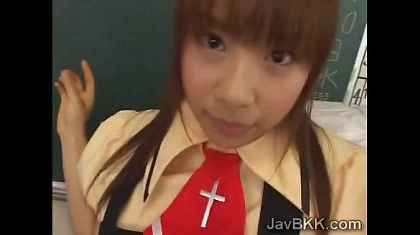 Innocent schoolgirl from Japan tastes her teachers rod