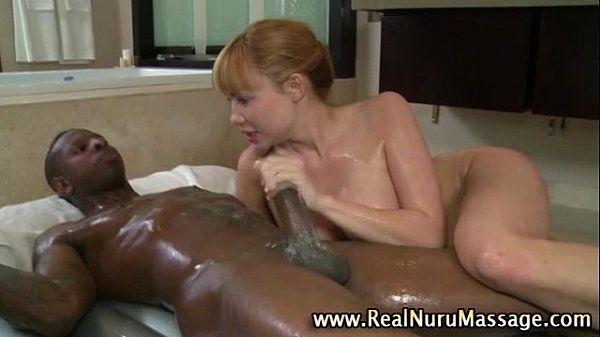 Nasty massage fetish hoe gets a cumshot