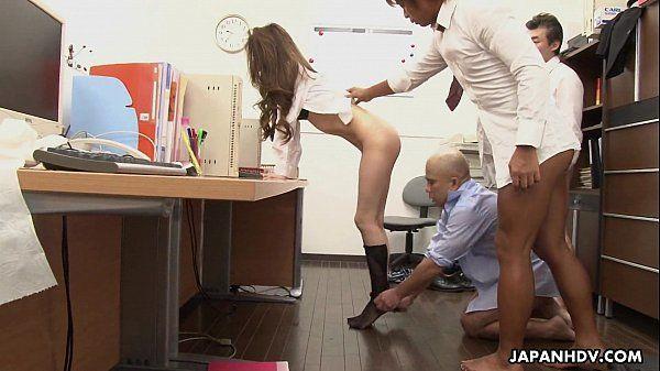 Asian slut gets fucked in the office HD