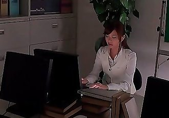Office worker getting some juice up as her work gets boring 7 min HD+