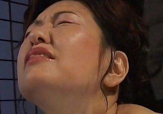 Busty Japanese chick in hot wax BDSM action - 6 min