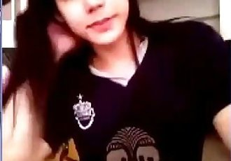 buriram thai girl football fan club on webcam - 18 min
