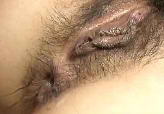 Kyoka Ishiguro gets dongs in mouth and in hairy dark fish taco - 10 min