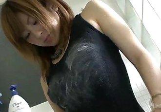 Cute Yuu Mizuki Shows off Her Phat Ass in the Shower - 5 min