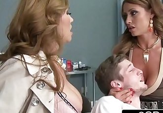 Mistress Kianna Dior & Wife Eva Notty Having a Blowjob Competition in the E.R. - 8 min HD