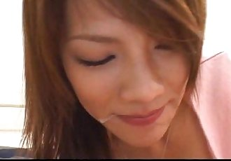 Horny Asian babe gets her face stuffed by dicks - 7 min