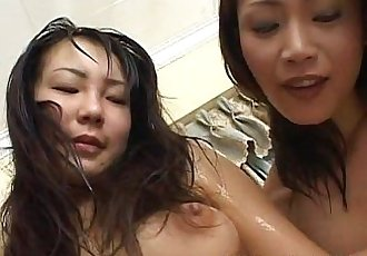 Delicious Japanese slavegirl moans during lesbian sex - 10 min