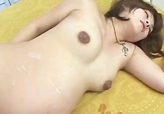 Pregnant Japanese girl cumshot on the face! Porn, Sex, Mother, comes, sperm - 5 min