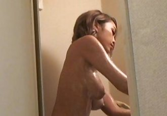 Peeping the shower of japanese busty girl, ShionFujimoto. - 5 min