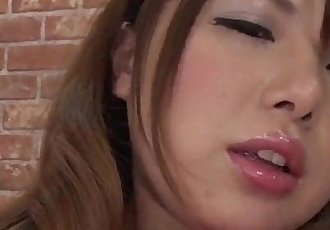 Reika Ichinose tries toys up her cramped pussy and mouth - 12 min