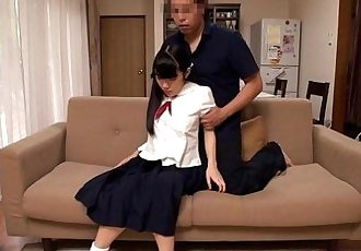Japanese schoolgirls analplay with older dude - 8 min HD