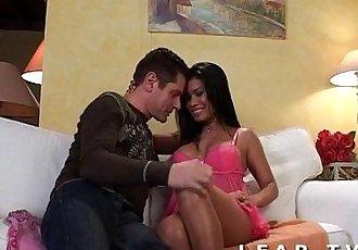 Petite thai aux gros seins sodomisee avec une bonne ejac en bouche - 27 min