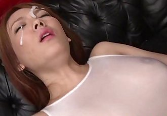 Asian babe receives facials while stimulated with vibrator - 6 min