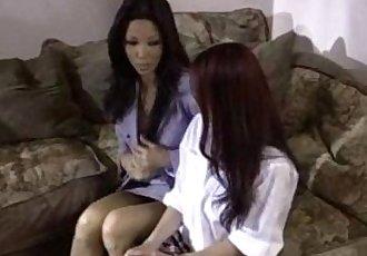 Lesbian Asian School - 15 min