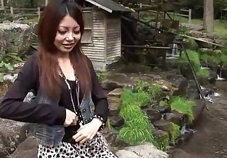 Asian hottie getting fucked and is creamed on - 59 sec