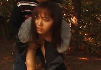 Kinky Outdoor Asian bondage action - 5 min
