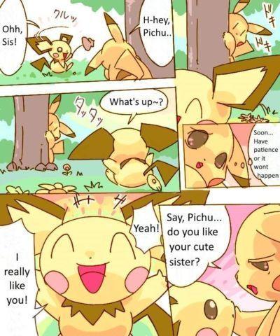 Pikachu Kiss Pichu