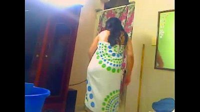 Indian Wife Shower For Her Hubby On A WebCam - 59 sec